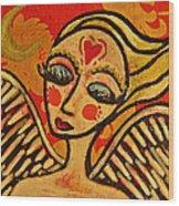 Angel Dreaming Wood Print