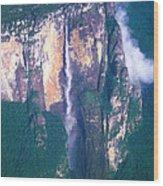 Angel Falls In Venezuela Wood Print