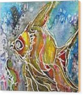 Angel Fish Wood Print by M C Sturman