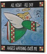 Angel Flight Poster Wood Print
