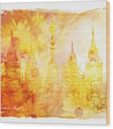 Angel Golden Wood Print by La Rae  Roberts