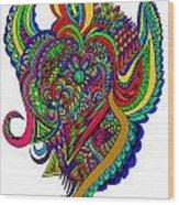 Angel Wood Print by Karen Elzinga