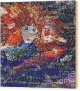 Angel Koi Blend Wood Print