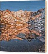 Angel Lake Alpenglow Wood Print