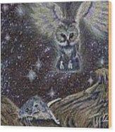 Angel Of Death Wood Print by Thomas Maynard