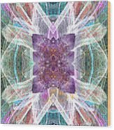 Angel Of The Crystal World Wood Print