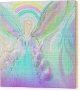 Angel Working Wood Print by Rosana Ortiz