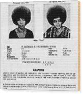 Angela Davis Fbi Wanted Ad, August 8th Wood Print by Everett