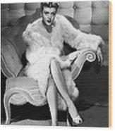 Angela Lansbury, 1946 Wood Print