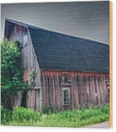 Angelica Barn In Hdr Wood Print