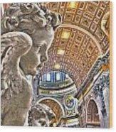 Angels At The Vatican Wood Print