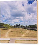 Angkor Wat Wood Print by Arik S Mintorogo