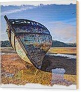 Anglesey Shipwreck Wood Print