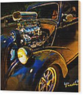 Anglia Dragster And A Duce Staged For A Grudge Run  Wood Print