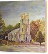 Anglican Church Beechworth  Victoria Wood Print