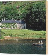 Angling, Delphi Lodge, Co Mayo, Ireland Wood Print