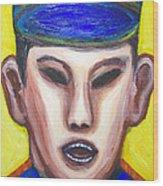 Angry Chinese Police Officer Wood Print by Kazuya Akimoto