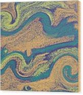Angry Seas Wood Print