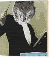 Animal Family 8 Wolf Composer Wood Print