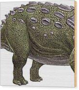 Ankylosaurus Magniventris Wood Print