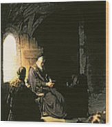 Anna And The Blind Tobit Wood Print