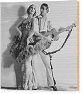 Anna Pavlova 1885-1931 Dancing Partner Wood Print