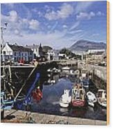 Annalong Harbour, Near Mountains Of Wood Print