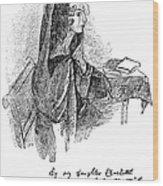 Anne Bront� (1820-1849) Wood Print by Granger