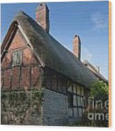 Anne Hathaway's Cottage Wood Print