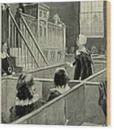 Anne Hutchinson, Charged With Heresy Wood Print by Everett