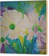 Anne's Flowers Wood Print