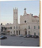 Annunciation Latin Church In Beit Jala Wood Print