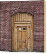 Anonymous Door Wood Print
