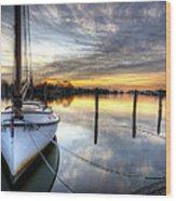 Another December Sunrise Wood Print