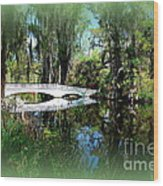 Another White Bridge In Magnolia Gardens Charleston Sc II Wood Print