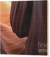 Antelope Canyon Living Rock Wood Print