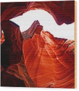 Antelope Canyon Skylight Wood Print