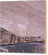 Antelope House Petroglyphs Wood Print