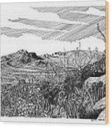 Anthony Gap New Mexico Texas Wood Print by Jack Pumphrey