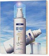 Anti-ageing Cosmetics Wood Print
