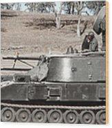 Anti-aircraft Guns Mounted On An M109 Wood Print
