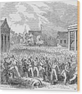 Anti-german Riot, 1851 Wood Print