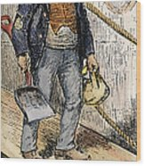 Anti-immigrant Cartoon Wood Print by Granger