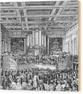 Anti-slavery Meeting, 1842 Wood Print