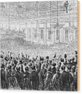 Anti-slavery Meeting, 1863 Wood Print