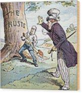 Anti-trust Cartoon, 1904 Wood Print