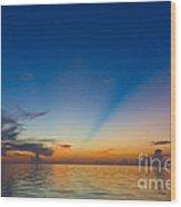 Anticrepuscular Rays Wood Print
