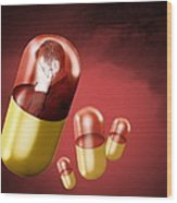 Antidepressant Medication Wood Print