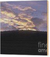 Antigua Sunset Wood Print