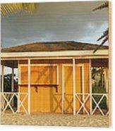 Antiguan Beach Hut Wood Print